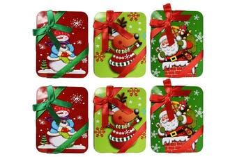 (6 Tins) - Set of 6 Tin Holiday Gift Card Holders! Perfect for Seasonal Gift Giving! (6 Tins)