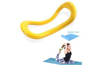 (Yellow) - YNXing Yoga Equipment Yoga Ring Pilates Ring Fitness Circle Training Resistance Support Tool Calf Massage Home Training