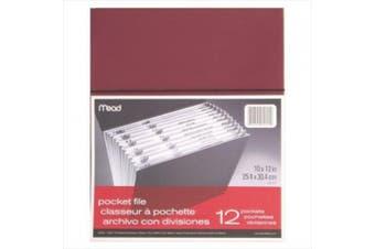 MeadWestvaco 35220 20cm - 1.3cm X 28cm 12 Pocket All Purpose File Assorted Colours