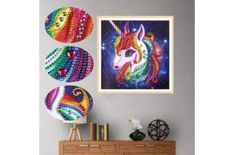 (Unicorn 2) - Amersin DIY 5D Special Shaped Diamond Painting by Number Kits, Full Drill Rhinestone Embroidery Cross Stitch Pictures for Christmas Home Decor (Unicorn 2)