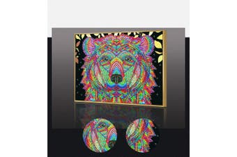 (Colourful dog) - Amersin DIY 5D Special Shaped Diamond Painting by Number Kits, Full Drill Rhinestone Embroidery Cross Stitch Pictures for Christmas Home Decor (Colourful Dog)