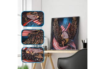 (Eagle 1) - Amersin DIY 5D Special Shaped Diamond Painting by Number Kits, Full Drill Rhinestone Embroidery Cross Stitch Pictures for Christmas Home Decor (Eagle 1)