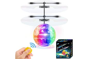 (01 Flying Ball With Led Light) - AMENON Flying Ball Kids Toys, RC Flying Toys Hand Control Helicopter Infrared Induction RC Flying Light Up Toys Indoor Outdoor Games Remote Control Drone Rechargeable Xmas Holiday Birthday Gifts