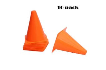 Agreatca 10 pcs Marker Bucket,18cm Plastic Traffic Cones,Multipurpose Construction Theme Party Sports Activity Cones,Cones for Kids Outdoor and Indoor Gaming and Festive Events