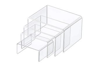 (Size D) - Chuangdi Clear Acrylic Display Risers, Jewellery Display Risers Showcase Fixtures, Tear Off The Protective Film Before Use (Size D)