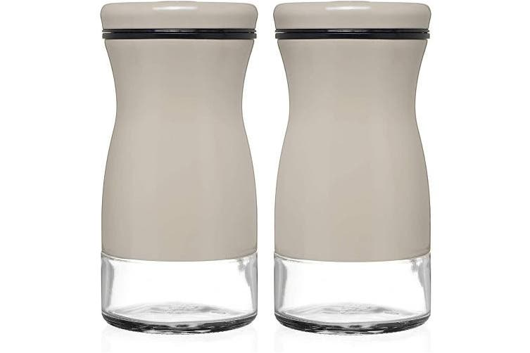 Gray Chefvantage Salt And Pepper Shakers Set With Adjustable Pour Holes Grey Kogan Com