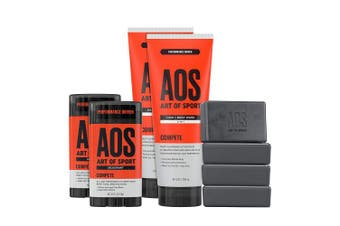 (Compete) - Art of Sport Athlete Collection, Compete Scent, 8pc Skin and Body Care Set with Deodorant, Hair + Body Wash, and Body Bar Soap …