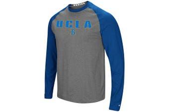 (Large, UCLA Bruins) - Colosseum Men's NCAA-Buzzer Beater- Long Sleeve Raglan T-Shirt-Heathered