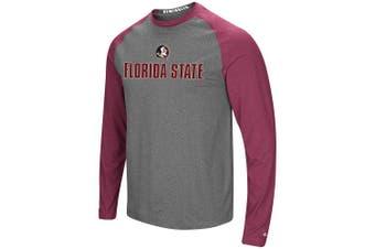 (Large, Florida State Seminoles) - Colosseum Men's NCAA-Buzzer Beater- Long Sleeve Raglan T-Shirt-Heathered