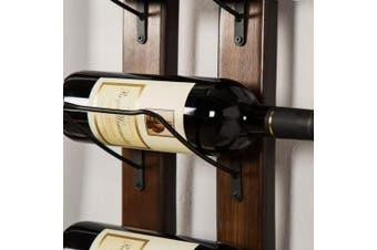 (Brown, Wood) - Wall Mounted Wine Rack Barrel Stave Hanging Wine Rack Handcarved 6 Bottle Barrel Stave Wooden Wall Mounted Wine Rack Wine bottle holde Wall Mounted Wine Rack for home(Brown, 100cm *10cm *2.5cm )