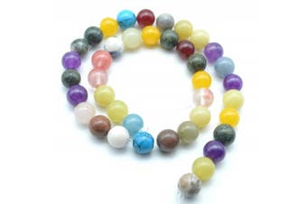 (8mm) - Catotrem Assorted Natural Round Bead Gemstone Energy Stone Healing Power Polished Loose Beads 8mm