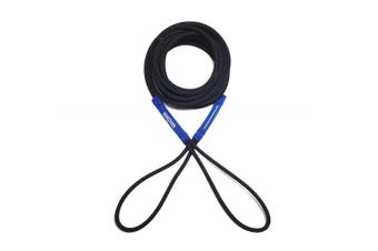 (4.6m, Black/Blue) - Boat Line Rope Bungee - Heavy Duty Line for Launching, Retrieving, Mooring and Docking