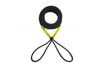 (7.6m, Black/Yellow) - Boat Line Rope Bungee - Heavy Duty Line for Launching, Retrieving, Mooring and Docking