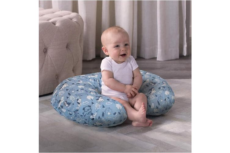 Boppy Cotton Blend Nursing Pillow and Positioner Slipcover, Blue Dog Park