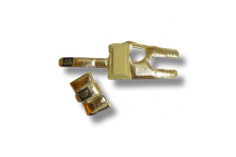 (Small (31-50kg), Gold Metallic) - US Glove Tiger Paws Wrist Wraps - Adjustable Wrist Support Braces for Gymnastics, Tumbling, and Cheerleading