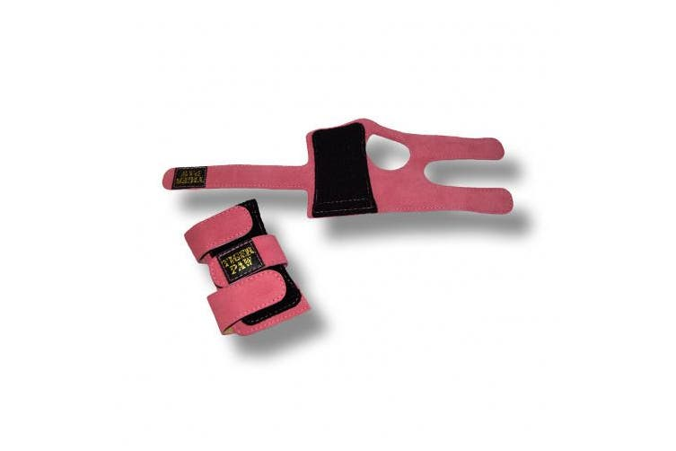 (Medium (50-70kg), Pink) - US Glove Tiger Paws Wrist Wraps - Adjustable Wrist Support Braces for Gymnastics, Tumbling, and Cheerleading
