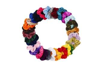 (Hair Srunchies) - CN 30Pcs Velvet Hair Scrunchies Scrunchy Elastic Hair Bands Bobbles Ties Ponytail Holder for Women Girls Kids