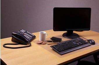 (20cm  Diameter, Anti-Slip Polycarbonate) - Desktex, Circular Desk Mat, Anti-Slip, Round - 20cm Diameter (FPDE08ERA)