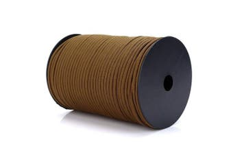 (Khaki) - PSKOOK 100m Paracord 550 Multifunction Paracord Roll Tent Rope Parachute Cord Paracord Ultimate Survival Parachute Cord Durable Lanyard 9 triple strands in the core