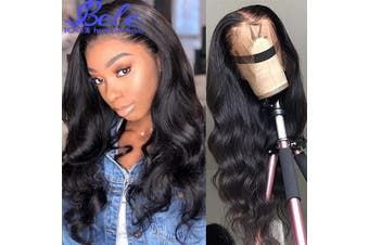 (60cm , 360 Body Wig) - Bele Pre-Plucked Malaysian 10A Body Wave 360 Lace Frontal Wigs 150% Density With Nature Hairline Human Virgin Hair Nature Colour For Black Women 60cm