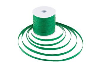 (Christmas Green) - Whaline 229 Yards Raffia Paper Ribbon Craft Packing Paper Twine for Festival Gifts, DIY Decoration and Weaving, 0.6cm Width (Christmas Green)