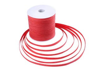 (Red) - Whaline 229 Yards Raffia Paper Ribbon Craft Packing Paper Twine for Festival Gifts, DIY Decoration and Weaving, 0.6cm Width (Red)