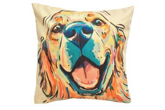"(Golden Retriever) - Moyun ""Cute Pet"" Dogs Pattern Cotton Linen Home Decor Throw Pillow Case Cushion Cover (Golden Retriever)"