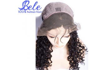 (60cm , Curly Wave Wig) - Bele Curly Wave Lace Front Wigs Pre-Plucked 150% Density Virgin Brazilian Curly Wave Human Hair Lace Frontal Wigs With Baby Hair 60cm