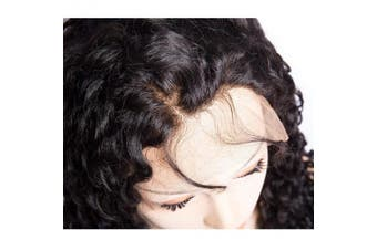 (30cm , Curly Wave Wig) - Bele Pre-Plucked Curly Wave Lace Front Wigs 150% Density Virgin Brazilian Curly Wave Human Hair Lace Frontal Wigs With Baby Hair 30cm