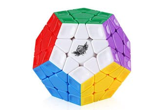 Coogam Cyclone Boys 3x3 Megaminx Stickerless Speed Cube 12 Sided Megamix Dodecahedron Magic Cube Puzzle Toy