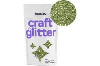 "(OLIVE) - Hemway Craft Glitter 100g 100ml Chunky 1/40"" 0.025"" 0.6MM (Olive)"