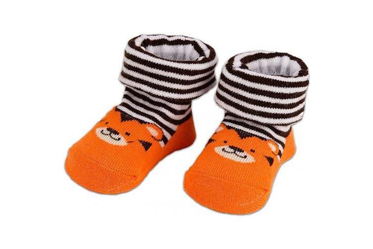 (Animals, 0-12 Months) - BRUBAKER 4 Pairs of Baby Socks Boys 0-12 Months - Animals