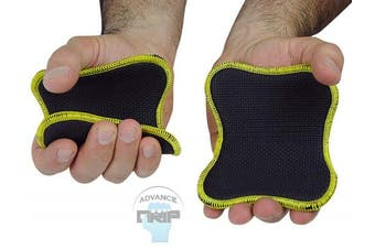 (Neoprene Grips Yellow) - Original Lifting Grips The Alternative to Gym Workout Gloves Comfortable & Light Weight Grip Pad for Men & Women That Want to Eliminate Sweaty Hands Gym Gloves (Single Pair)