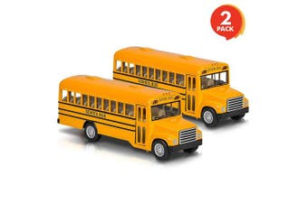 "ArtCreativity 5"" Pull Back School Bus Toy (Set of 2) 