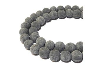 (Matte Finished 6mm) - [ABCgems] Rare Matte Carabao Buffalo Horn (Hand Carved from Beautiful Horn of Carabao) Precision-Cut Tiny 6mm Smooth Round Beads for Jewellery Making (No Wax)