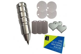 Chomas Creations Silhouette Precision Etching/Engraving Tool, Stamping Blanks: Round, Heart, and Dog Tags and Die Cutting Machine Hack Guide