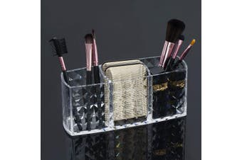 (1) - Czemo Makeup Brush Holder Acrylic Makeup Organisers Cosmetic Brush Cylinder Clear