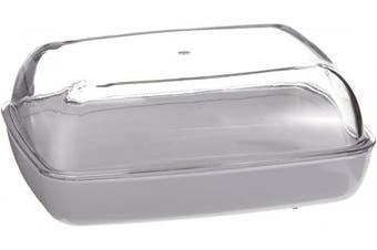 (Transparent/Weiss) - Emsa 505261 Vienna butter dish, 13.5 x 10 x 5.5, transparent/white