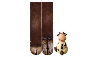(Cow) - BONTOUJOUR Creative Unisex Men Women Fun Socks 3D Print Animal Feet Pattern Novelty Socks Paw Crew Socks- Cow