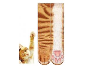 (Cat hands) - BONTOUJOUR Creative Unisex Men Women Fun Socks 3D Print Animal Feet Pattern Novelty Socks Paw Crew Socks- Cat Hands