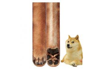 (Dog) - BONTOUJOUR Creative Unisex Men Women Fun Socks 3D Print Animal Feet Pattern Novelty Socks Paw Crew Socks- Dog