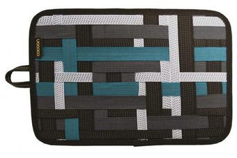 (Medium, Grey-Black) - Cocoon Innovation GRIT-IT - Pocket Organiser 12 inches | Elastic Strings | Electronic Accessories Organiser - Grey-Black / 30,5 x 1,9 x 20,3 cm