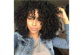 (Black(1B#)) - AISI HAIR Curly Afro Wig with Bangs Shoulder Length Wig Curly Black Wig Afro Kinkys Curly Hair Wig Synthetic Heat Resistant Wigs Curly Full Wigs for Black Women(Black) …