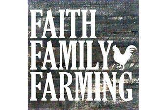 (Black) - Artistic Reflections Pallet Art RE1029b Faith Family Farming, 27cm x 27cm , Black