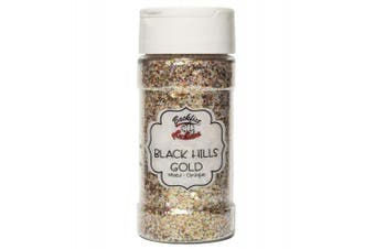 (Black Hills Gold) - Backfist Customs Glitter Black Hills Gold Chunky Premium Polyester Glitter Multi Purpose Dust Powder 120ml for use with tumblers Slime Arts & Crafts Wine Glass Decoration Weddings Cards Cosmetic
