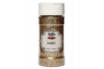 (Paris) - Backfist Customs Glitter Paris Chunky Gold Premium Polyester Glitter Multi Purpose Dust Powder 120ml for use with tumblers Slime Arts & Crafts Wine Glass Decoration Weddings Cards