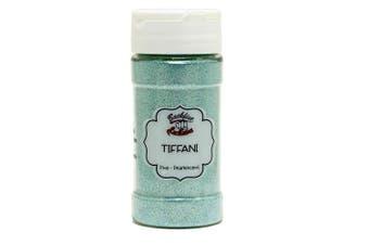 (Tiffani) - Backfist Customs Glitter Tiffani Green Blue Premium Polyester Glitter Multi Purpose Dust Powder 120ml for use with tumblers Slime Arts & Crafts Wine Glass Decoration Weddings Cards