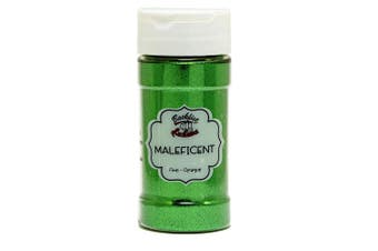 (Maleficent) - Backfist Customs Glitter Maleficent Premium Polyester Glitter Multi Purpose Dust Powder 120ml for use with tumblers Slime Arts & Crafts Wine Glass Decoration Weddings Cards