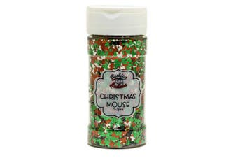 (Christmas Mouse) - Backfist Customs Glitter Christmas Mouse Premium Polyester Glitter Multi Purpose Dust Powder 120ml for use with tumblers Slime Arts & Crafts Wine Glass Decoration Weddings Cards