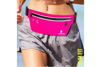 (Pink) - CrosFace Slim Running Belt for all Phones (iPhone X/11/8/7/6/XR/XS/Max/Plus/Pro, Samsung Galaxy S10/S9/S8/Plus & More). Slim, Water Resistant and Secure.